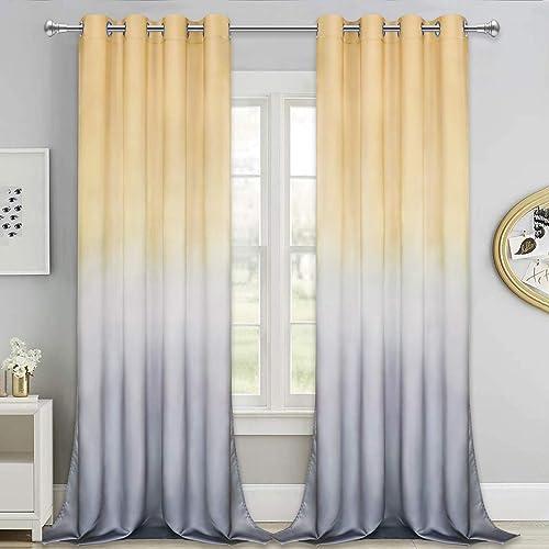 Ombre Gradient Window Curtain