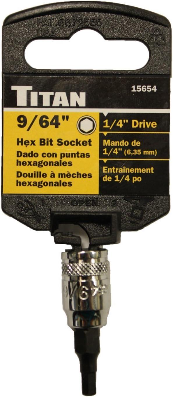 "TITAN 1//4/"" DR 5//32/"" HEX BIT SOCKET 15655"