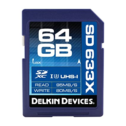 Delkin 633X UHS-1 - Tarjeta de memoria SDXC (64 GB): Amazon ...
