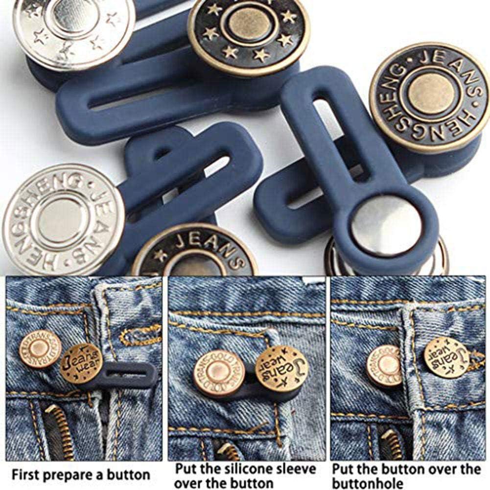 Wunder Button Extender Jeans Extender Taillen Extender Knopf F/ür Hosen Hemden f/ühren Hosen F/ür Schlauch Hosenerweiterung Hosenknopfverl/ängerung Bunderweiterung Caste Bundknopf Extender