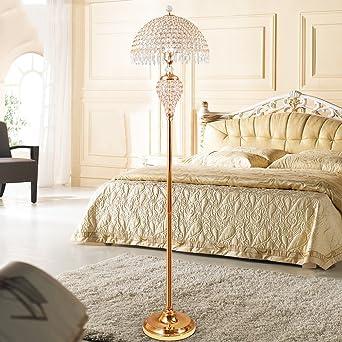 Stehleuchte Europäische Und Amerikanische Kristall Stehlampe Wohnzimmer  Schlafzimmer Einfache Moderne Luxus Stehlampe Fußschalter Lampe A+