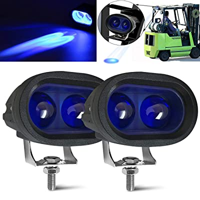 20W Led Forklift Safety Light Motorcycle Light 4D Lens Led Truck Lights Heavy Duty LED Work Light Blue(Pack of 2): Automotive
