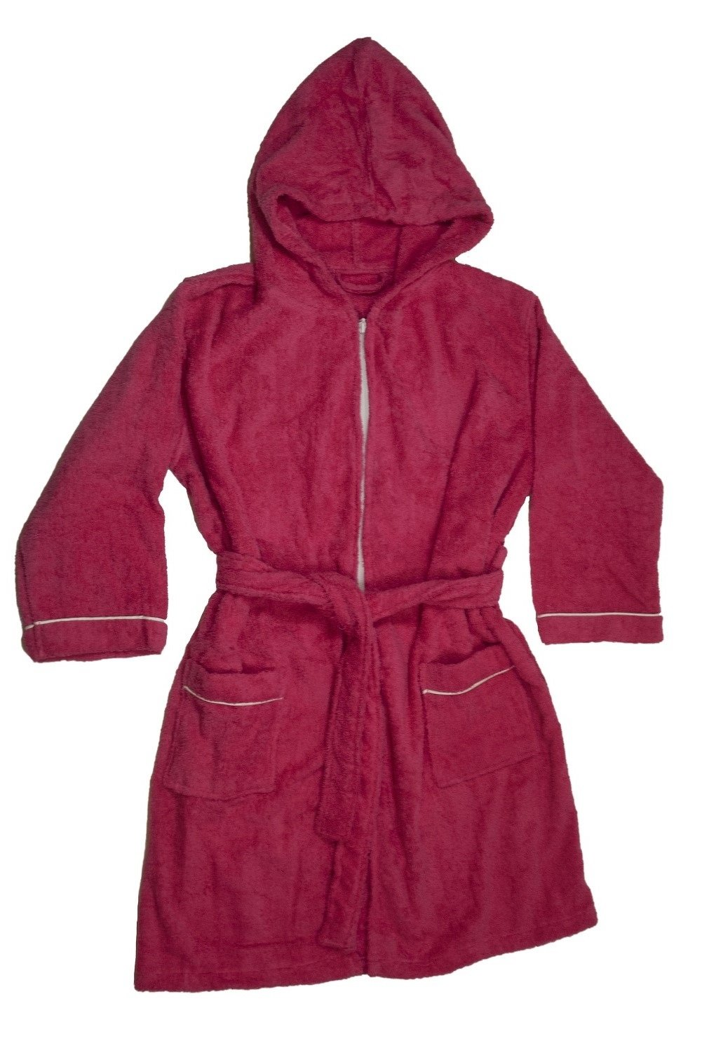 Boys Terry Cloth Hooded Bathrobe 100% Cotton Terry Coverup (6-7girls)
