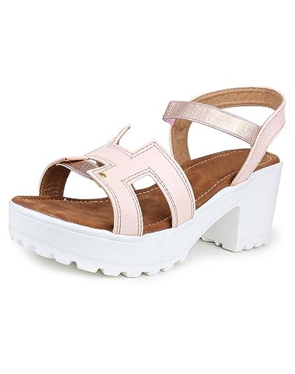 bbd91c5e154 Do Bhai Sandal-Mayuri Heels for Women (EU39
