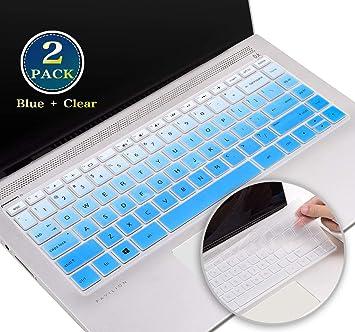 Amazon Com 2 Pack Keyboard Cover Skin For 2020 2019 Hp Pavilion 14 Inch Laptop Cover Hp Pavilion 14 Inch Series Hp Pavilion X360 14 Inch 14m Ba 14m Cd 14 Bf 14 Bw Keyboard Protector Skin Blue Clear