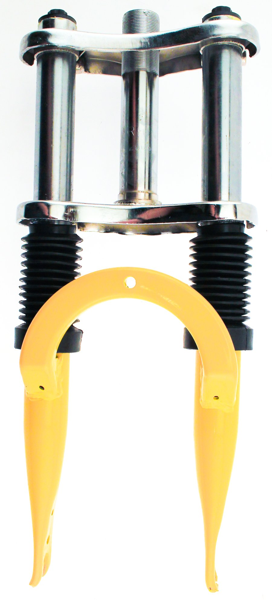 RHINO 12'' Threaded Steel 1'' Kid's Child's Yellow Bike Suspension Fork by Rhino (Image #1)