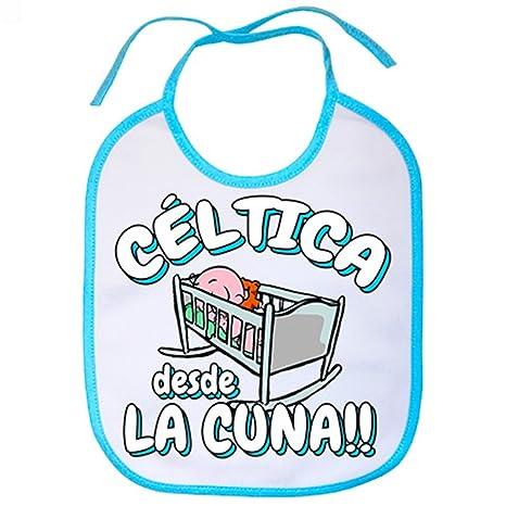 Babero Céltica desde la cuna Celta Vigo fútbol - Celeste