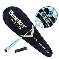 Senston N80YTP Badmintonschläger 100% Graphit Carbon Badminton schläger mit 1 Schläger / 1 Badmintontasche / 1 Overgrips