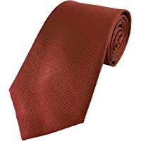 Mens Exquisite Woven 100% Silk Solid Plain Tie Wedding Business Formal Necktie 6-8CM Various Colors