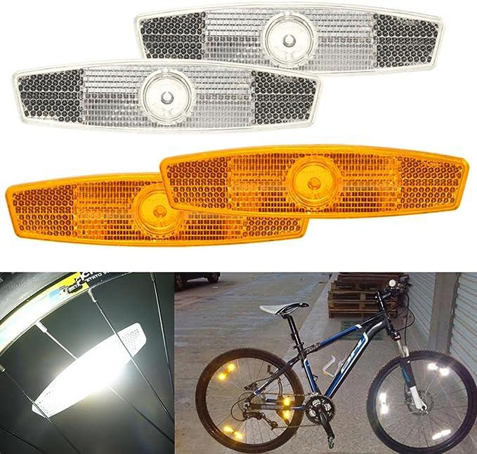 2pcs Bicycle Bike Wheel Reflectors Spoke Reflective Mount Vintage Clip Warni Jx