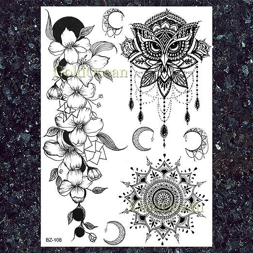 Yyoutop Búho Pulsera Collares Flor Boho Joyería Tatuajes Mujer ...