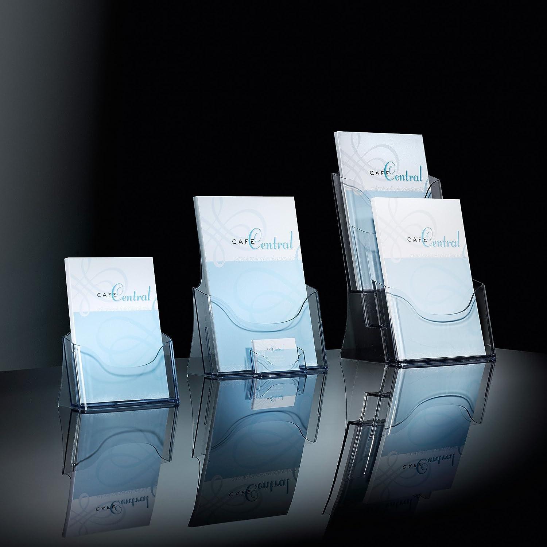 Sigel LH333 A4, 3 compartimentos Expositor de sobremesa para folletos transparente
