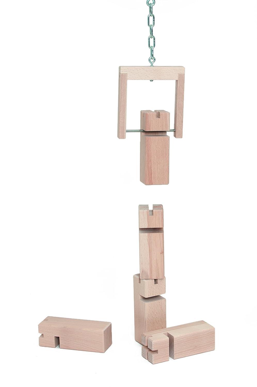 Promoción por tiempo limitado Torre de Froebel - modelo original en madera de haya (natural, Standart (8-99 años), con una bolsa de algodón)