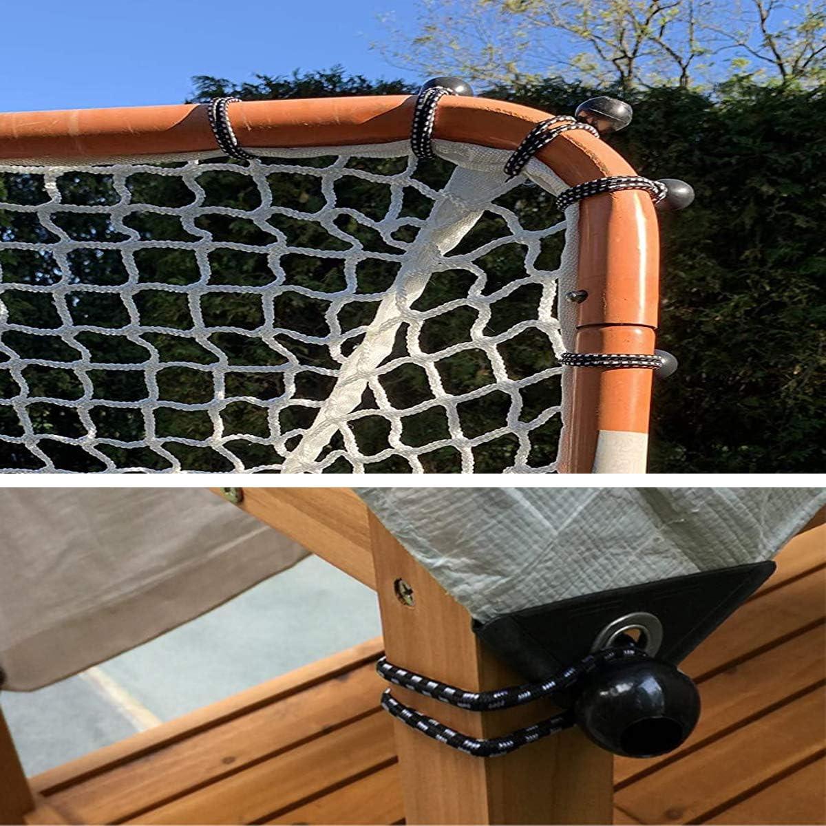 GQC 25 PCS Elastici con Sfera Bungee Cord Ball Supporto Elastico per l Fissaggio di Tende Teloni Cartelli /& Piani di Supporto