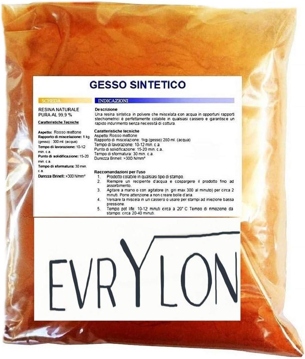 EVRYLON Yeso sintético no tóxico ladrillo moldeable Extra Duro de ...