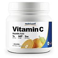 Nutricost Pure Ascorbic Acid Powder (Vitamin C) 2 LBS - High Quality, Gluten Free, Non-GMO