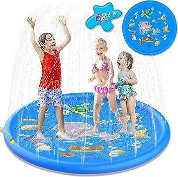 Creen Splash Pad Aspersor de Juego Almohadilla de Aspersión Jardín de Verano Juguete Acuático para Niños Aspersor de Juego de Verano Jardín de Verano Juguete para Niños: Amazon.es: Deportes y aire libre
