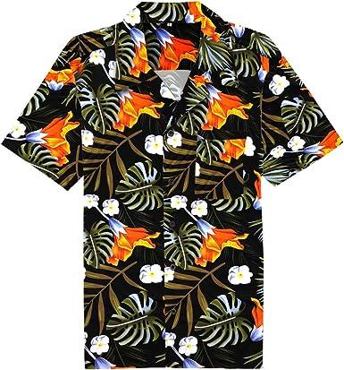 Candow Look Camisa de Hombre Hawaiian Beach Holiday Shirts ...