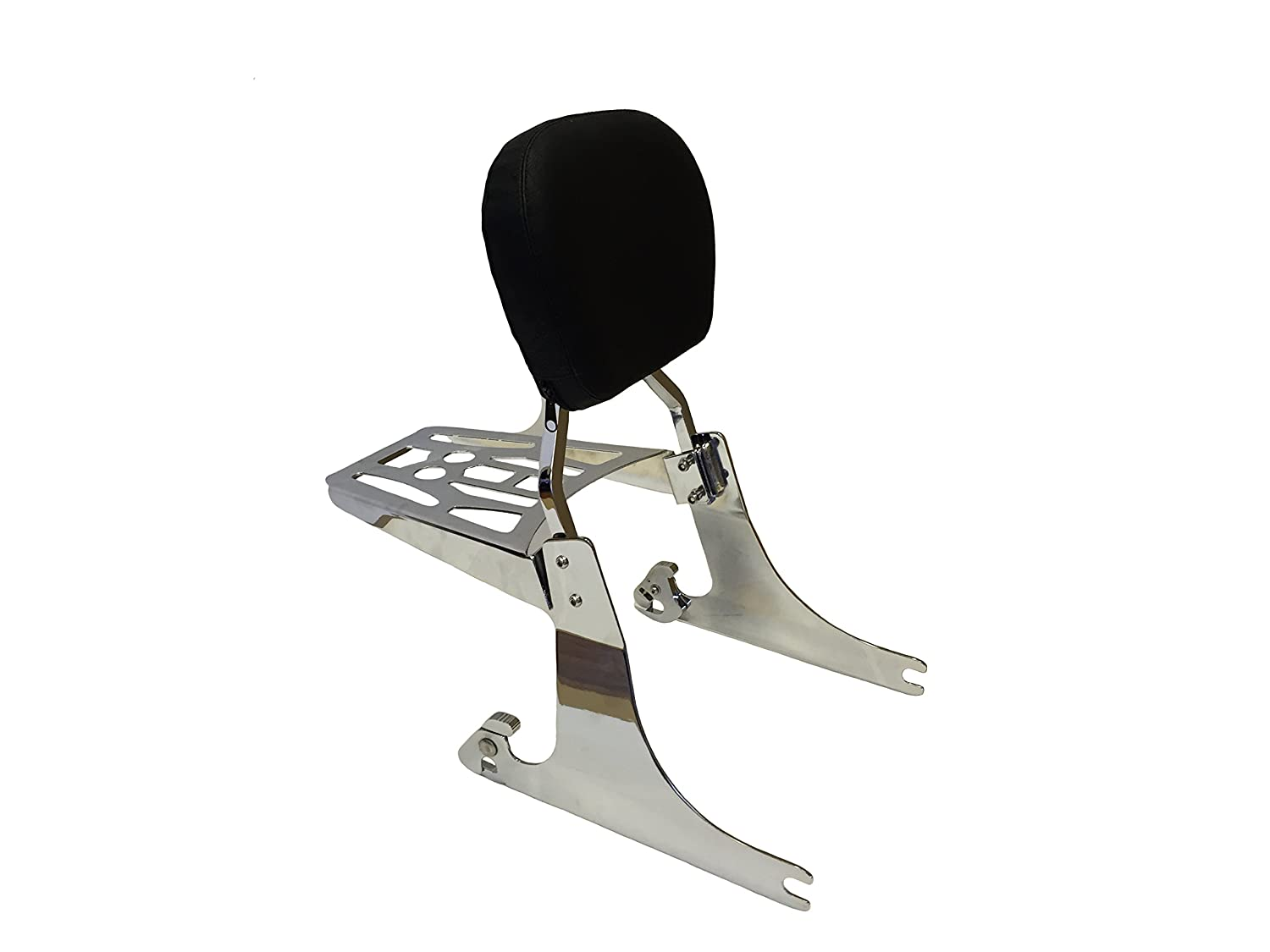 Detachable Passenger Backrest Sissy bar Rack Compatible with Harley Dyna 08-09 FXDF and FXDF HTTMT SBB029+P