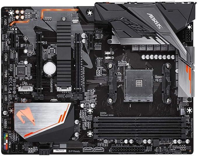 Gigabyte B450 Aorus Elite Carte Mere AMD B450 - Negro: Gigabyte ...