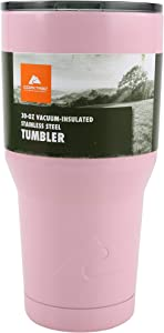 Ozark Trail 30-Ounce Double-Wall, Vacuum-Sealed Tumbler, Pink