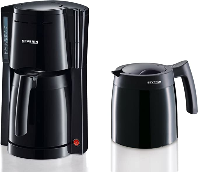 SEVERIN KA 9234 Cafetera para filtros de Café Molido, 8 tazas incluye 2 jarras termo, negro: Amazon.es: Hogar