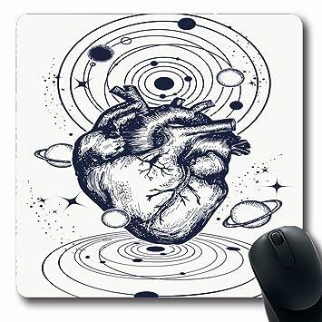 Mousepad Universo oblongo Universo Corazón anatómico entre ...