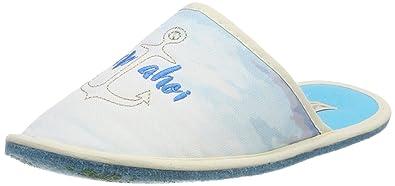 Adelheid Damen Ich Will Meer Stoffpantoffel Pantoffeln, Blau (Eisblau), 38/39 EU