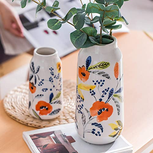 OISII Ceramic Jug Vase Vintage Lemon Antique French Embossed Ceramic Flower Vase Heart Jug C