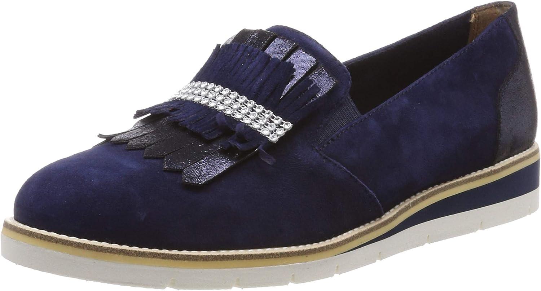 Rieker Damen Slipper blau N0275 15