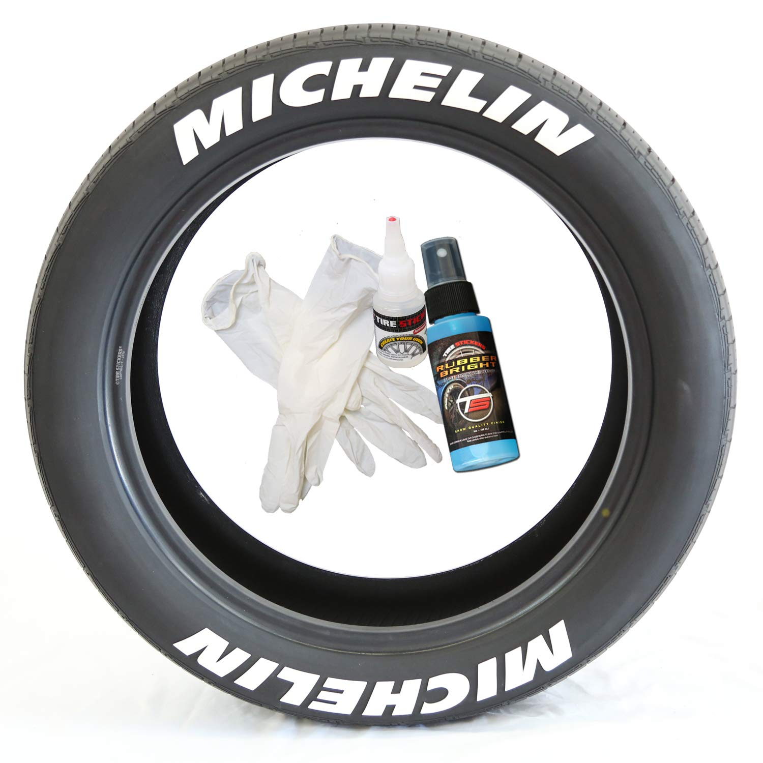 Michelin permanent tire lettering kit white 4 of each word custom sizing amazon co uk car motorbike