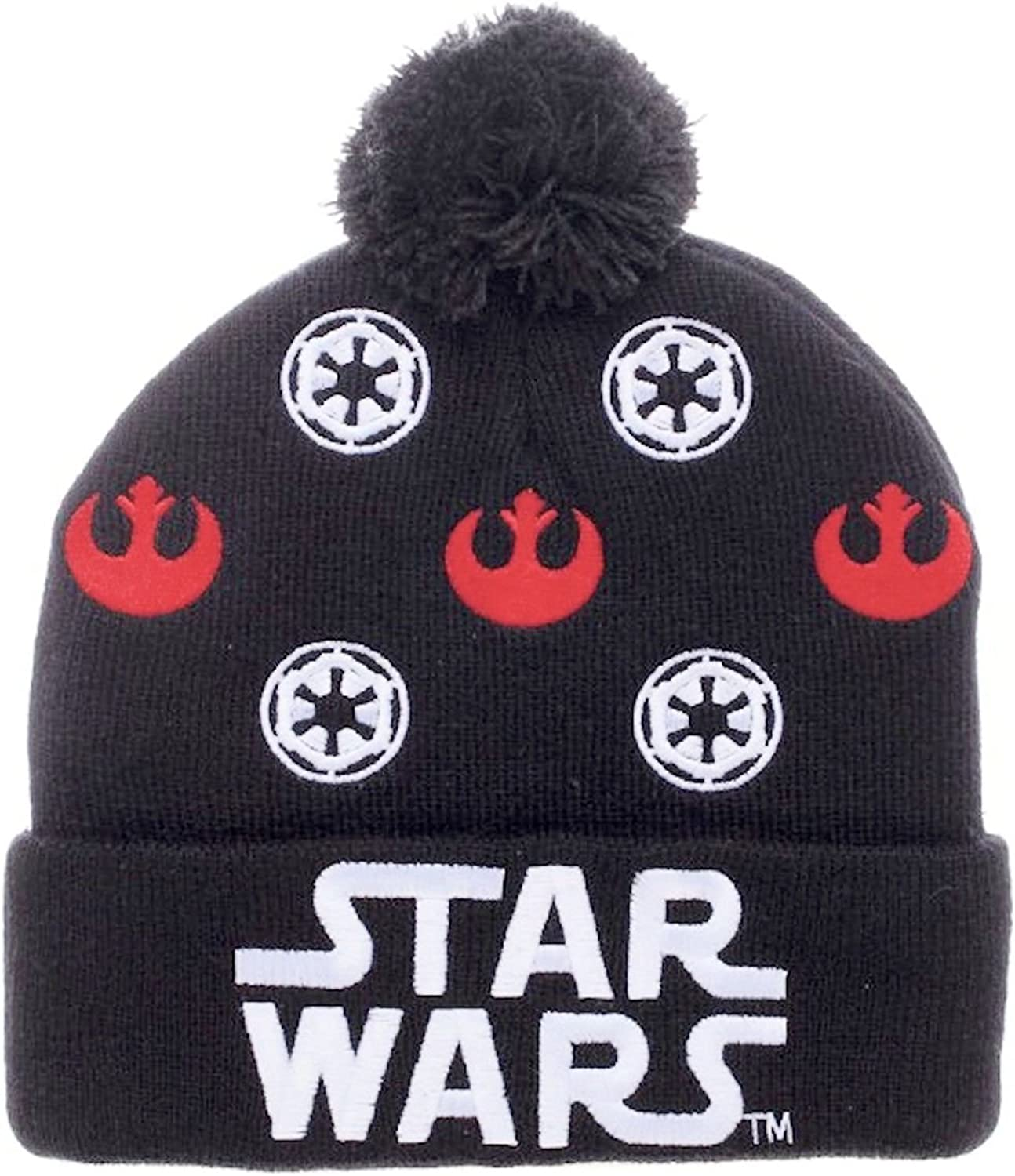 STAR WARS Black Darth Vader Boys Knit Beanie Cap Hat Disney Empire Dark Side New