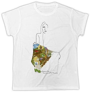 98aee44f Uk print king Joni Mitchell Art Paint Funny Gift Designer Unisex T-Shirt  White: Amazon.co.uk: Clothing