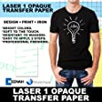 Laser 1 Opaque Dark Shirt Heat Transfer Paper 8.5x11 25