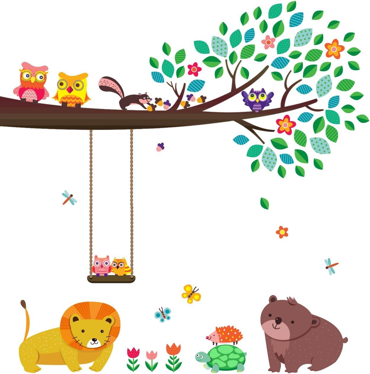 DECOWALL DA-1506A Barcos de Animales Vinilo Pegatinas Decorativas Adhesiva Pared Dormitorio Sal/ón Guarder/ía Habitaci/ón Infantiles Ni/ños Beb/és