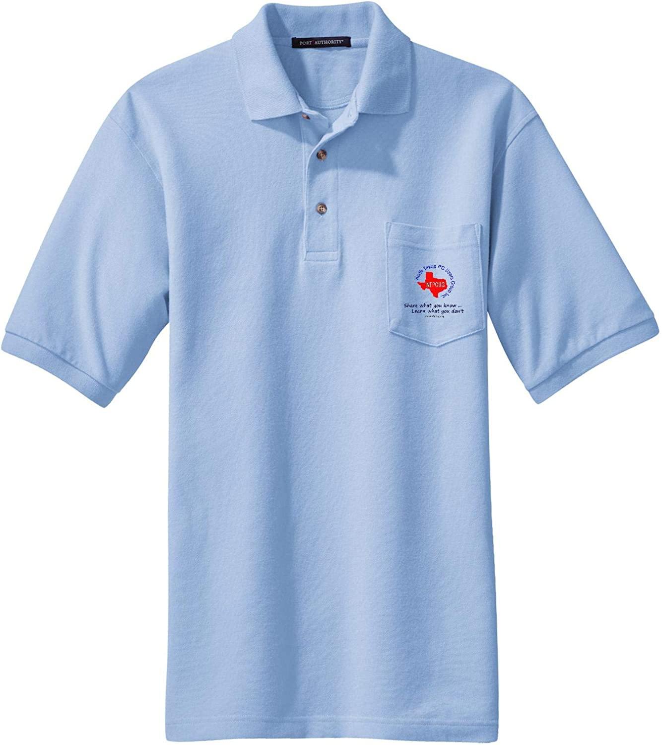NTPCUG Polo Shirt Mens Heavyweight Cotton Pique Polo with Pocket found it YES ..