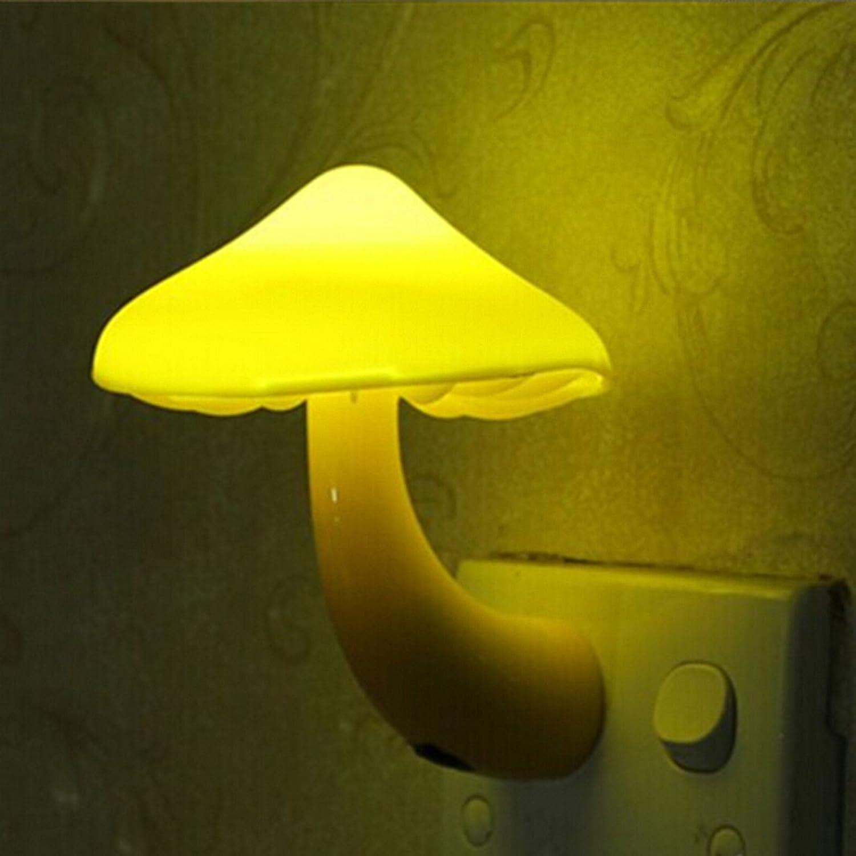 Seta de luz de la noche LED de bajo consumo-sensor-Lámpara de mesa para niños dormitorio/bares/fiesta/Home - EU-Plug MMRM