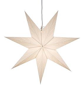 Konstsmide 2955-200 estrella de papel perforado/no incluye cable y bombilla