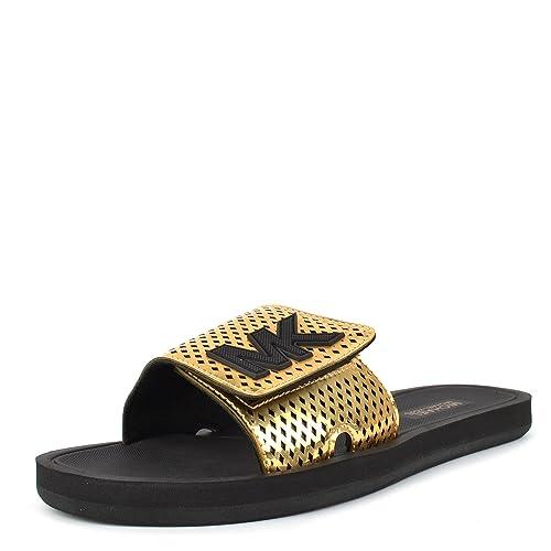 02932870a4bb MICHAEL by Michael Kors Zapatos MK Sandalias Oro Metalico Mujer 40 Oro   Amazon.es  Zapatos y complementos