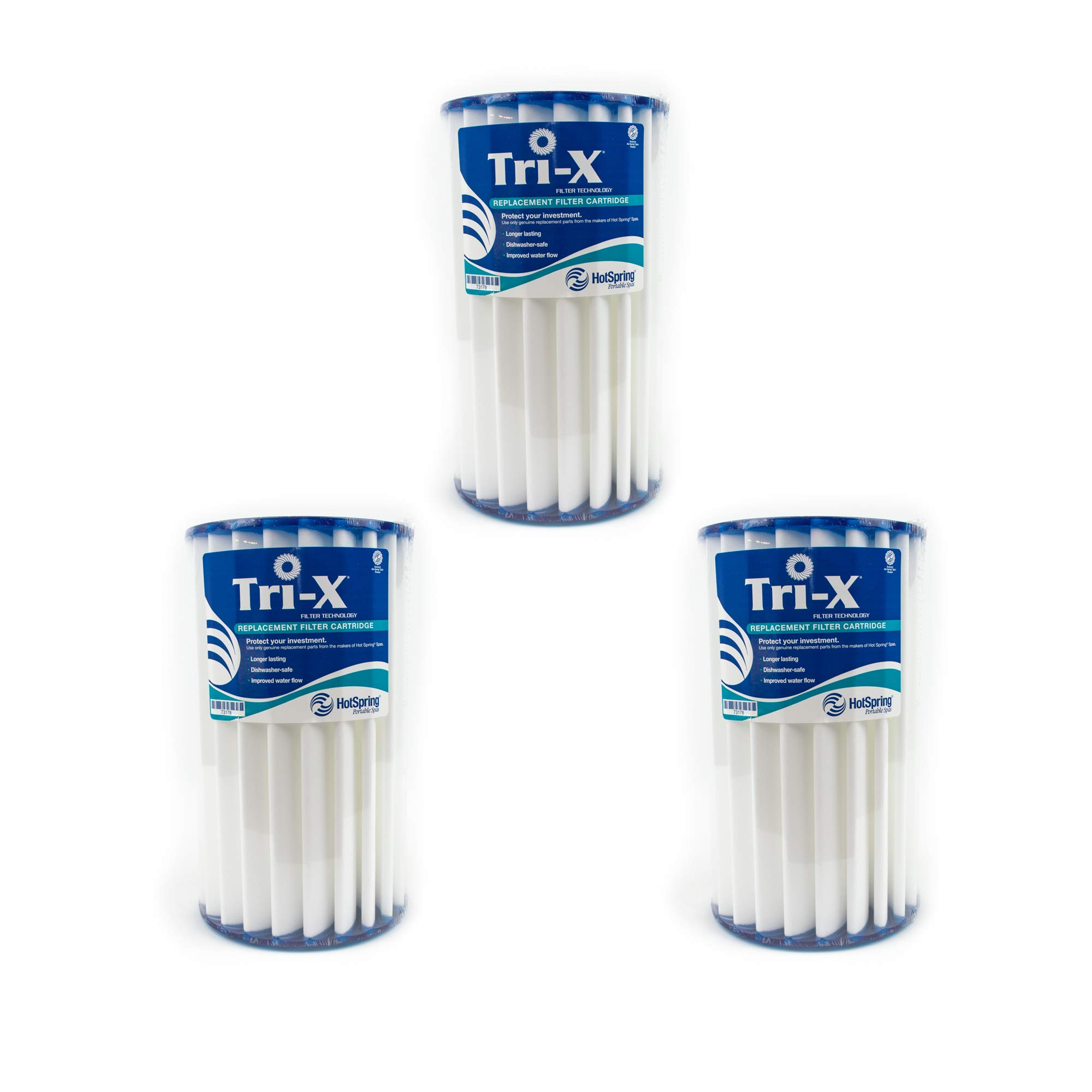 Happy Hot Tub 3 x Tri-X Filters Hotspring Hot Spring PWK30 Replacement Cartridge by Hot Spring