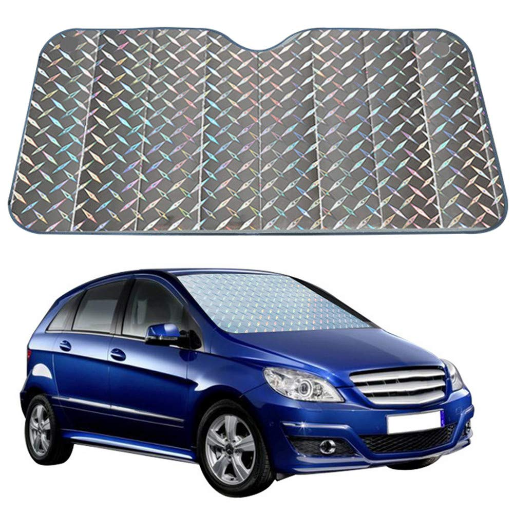 140 * 75 cm SUV Happyit Universal Car Sunshade Insulation Front Windshield Sunscreen Waterproof Wind Snow Frost Sun Visor Sun Block Foldable