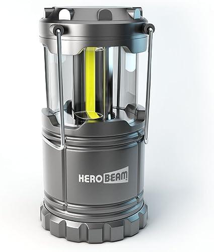 Farol de Camping LED HeroBeam® - Linterna de Camping ¡Tecnología COB LED – Lámpara Plegable con Imanes y Gancho para acampar - Iluminación genial para ...