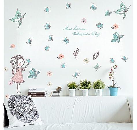 Adhesivo Decorativo para Pared de habitaci/ón Infantil Little Deco DL262 dise/ño de Luna y Nubes y Estrellas