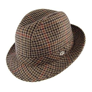 dcef9d2d Bailey Hats Italian Tweed Trilby Hat - Black Black Mix X-LARGE ...