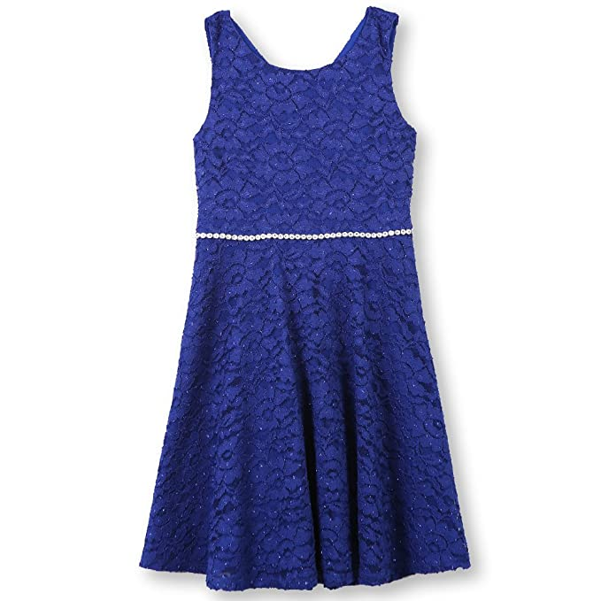 Amazon.com  Speechless Girls  Big 7-16 Tween Allover Lace Skater ... b84eaa151