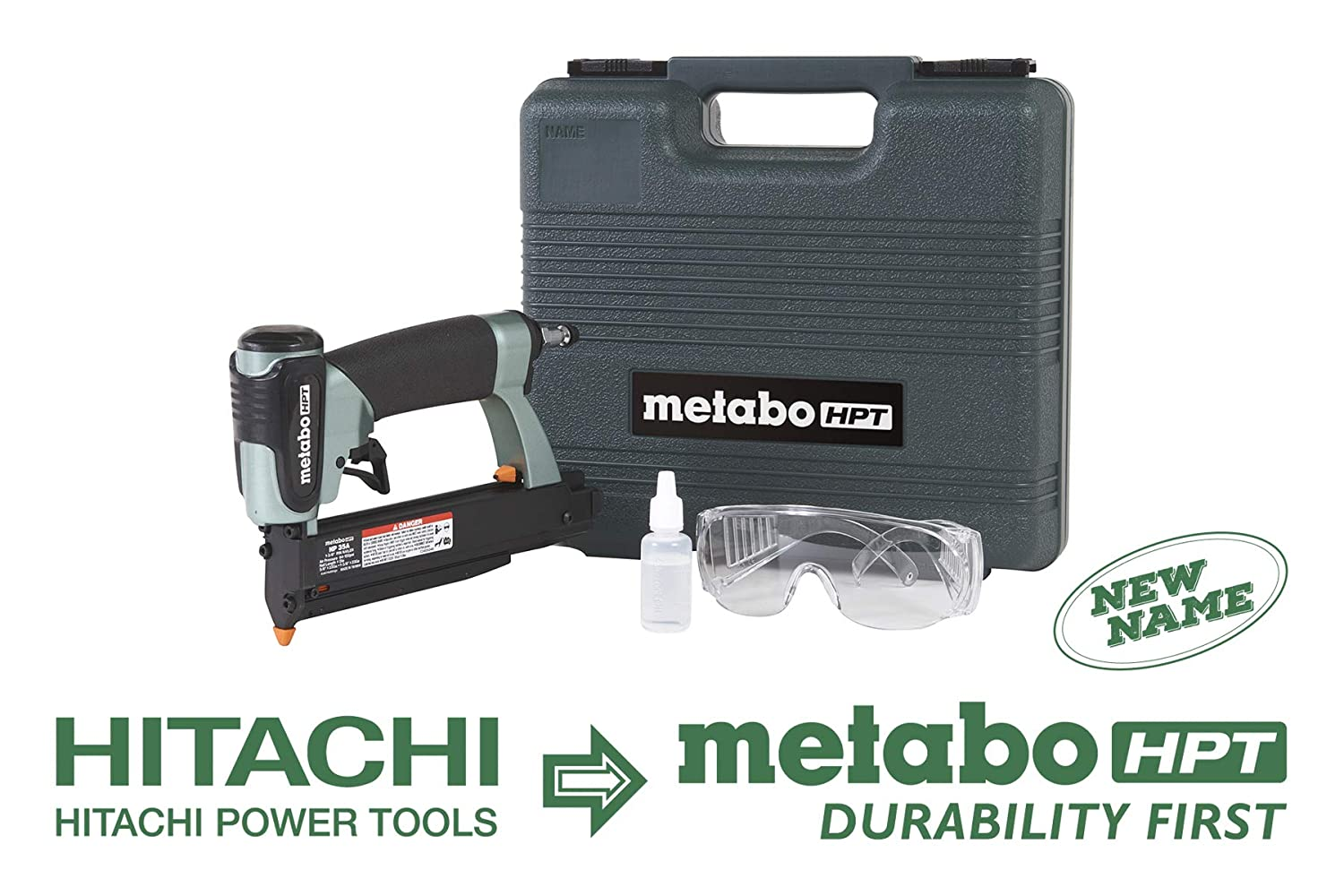 Metabo HPT NP35A Pin Nailer, 23 Gauge, 5 8 to 1-3 8 Pin Nails, Dual Trigger, Depth Adjustment, No Mar Tip – 2, Reload Indicator, Removable Nose Plate, Large Capacity Pinner, 5 Year Warranty