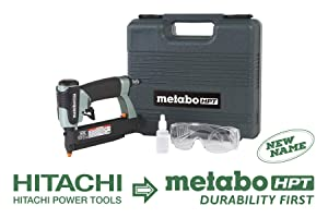 """Metabo HPT NP35A Pin Nailer, 23 Gauge, 5/8"""" to 1-3/8"""" Pin Nails, Dual Trigger, Depth Adjustment, No Mar Tip - 2, Reload Indicator, Removable Nose Plate, Large Capacity Pinner, 5 Year Warranty"""