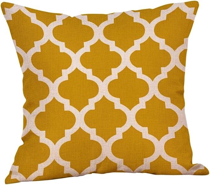 Winkey Pillowcase, 45X45cm Mustard