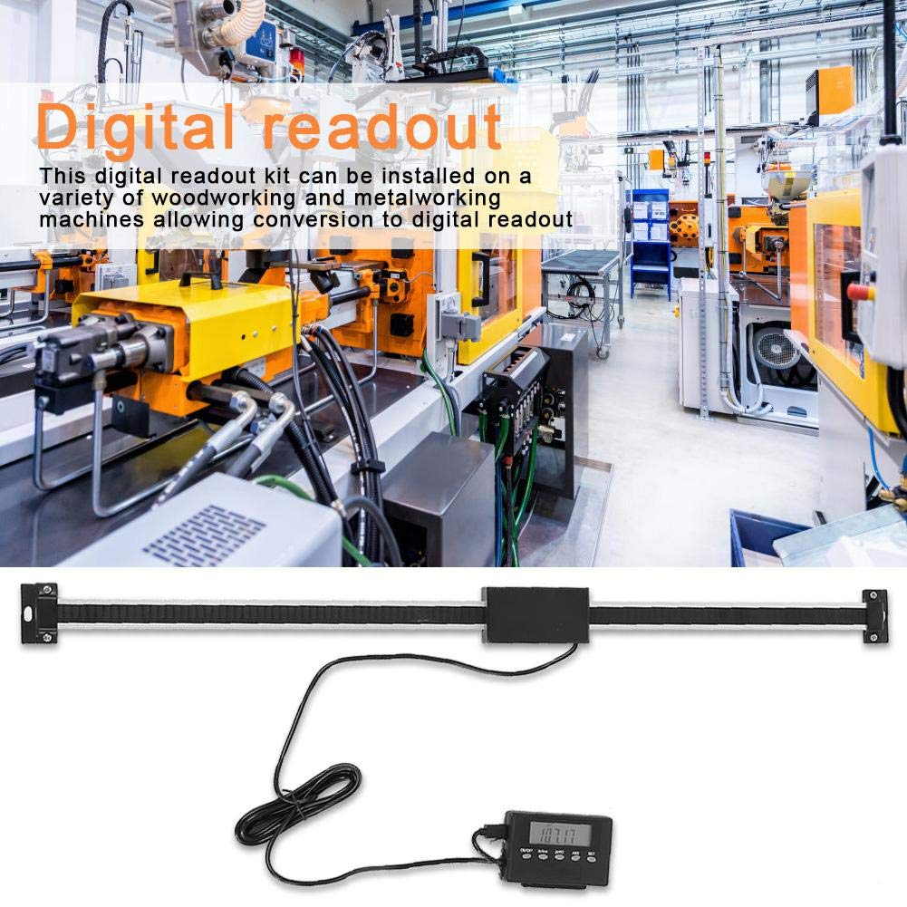 Akozon Scala di Lettura Digital Vernier Calipers in Lega di Alluminio 0-500mm Remota Scala Precise Linear Digital Kit di Misurazione per Fresatrici Torni