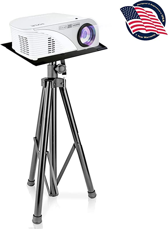 Pyle Audio Mobile DJ PA Speaker Stands, Laptop Stand, Multifunction Stand, Adjustable Tripod Laptop Projector Stand, 30